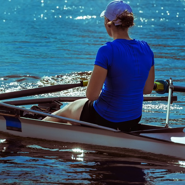Woman Rowing Canoe Kayak Exercise Active