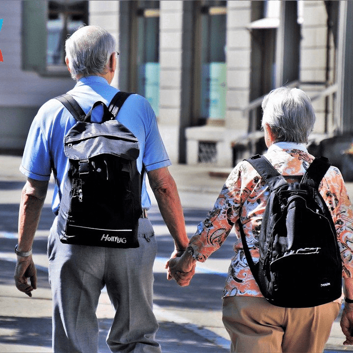 Old Couple Holding Hands Active