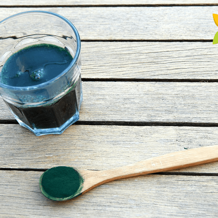 Spirulina Algae Drink Glass Powder Health