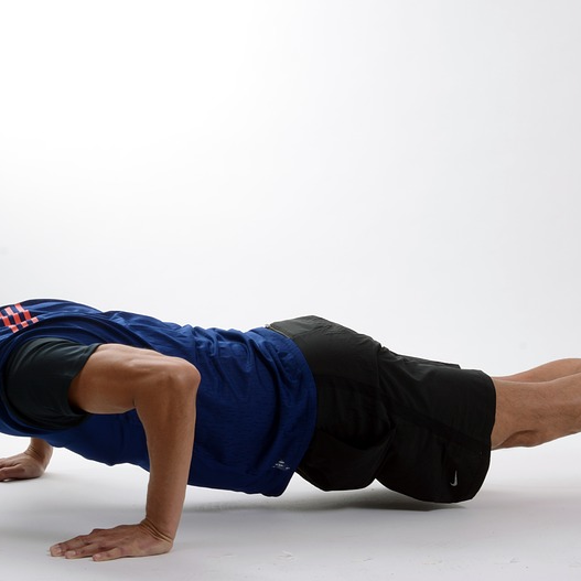 Man Push Up Body Weight Exercise Fit