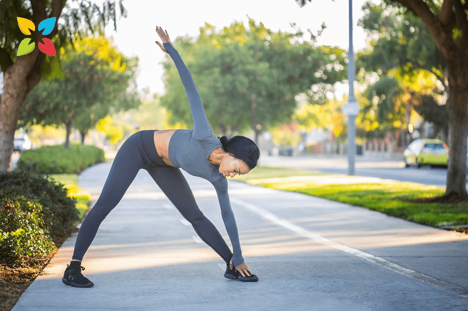 Woman Stretching Yoga Warmup Fitness