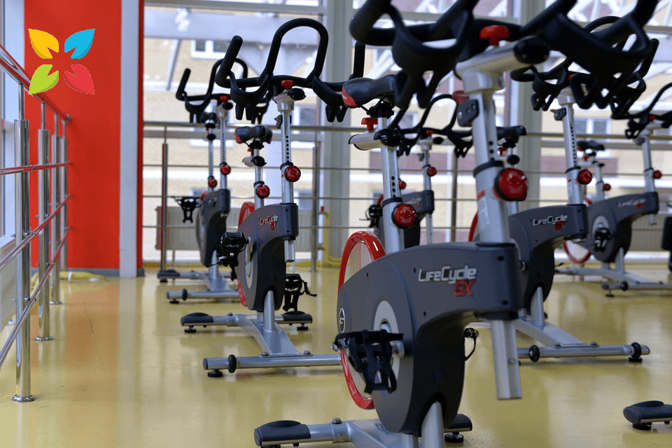 Indoor Spin Bike Class Cycling Exercise