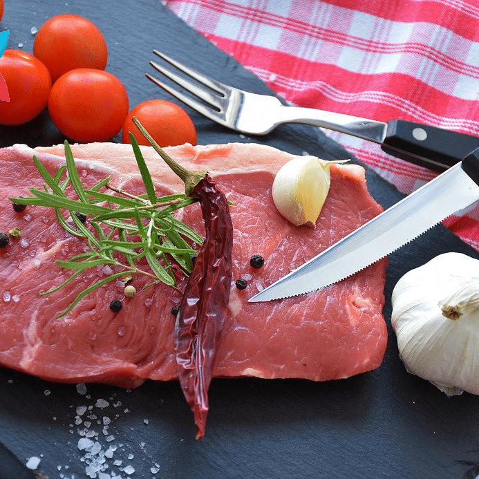 Raw Steak Source of B-12 B12 Vitamin