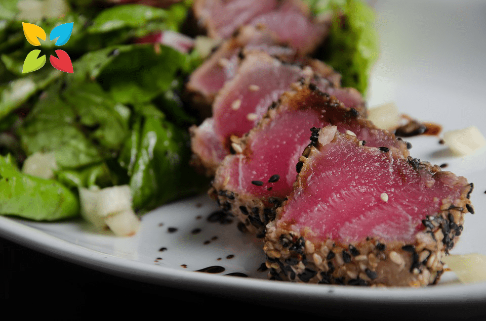 Tuna Seared Salad Dinner Food