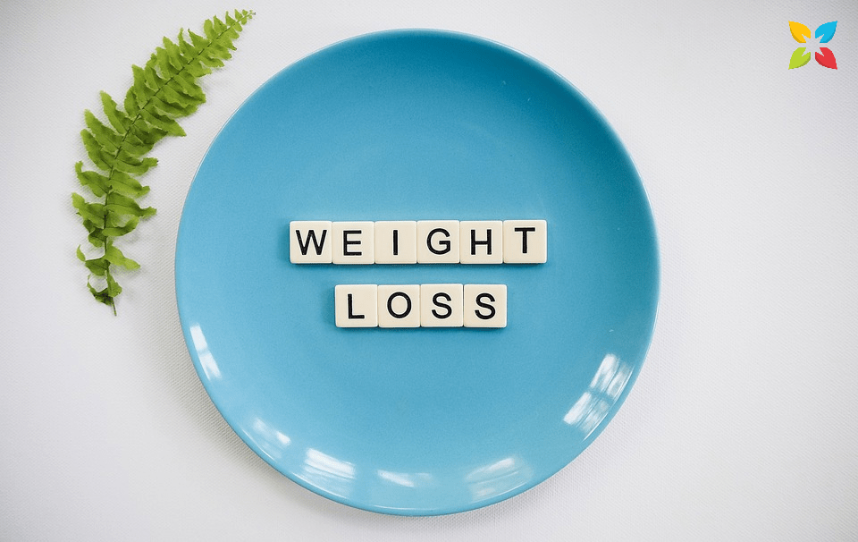 Plate Letters Spell Out Weight Loss Health