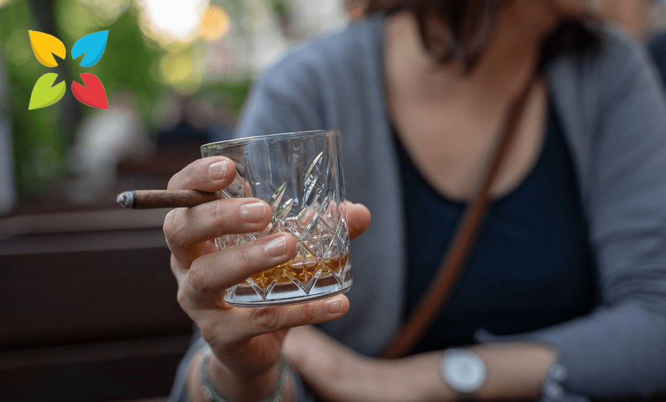 Woman Drinking Smoking Risk Factors Premature Death