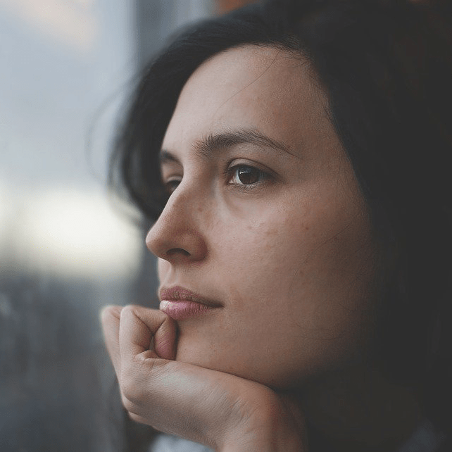 Woman Pensive Thinking Thoughtful