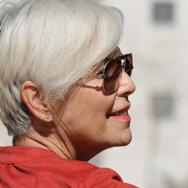 Old Woman Elderly Sunglasses Smile