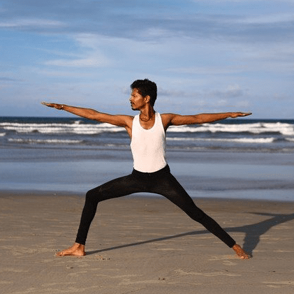 Yoga Beach Ocean Pose Stretch