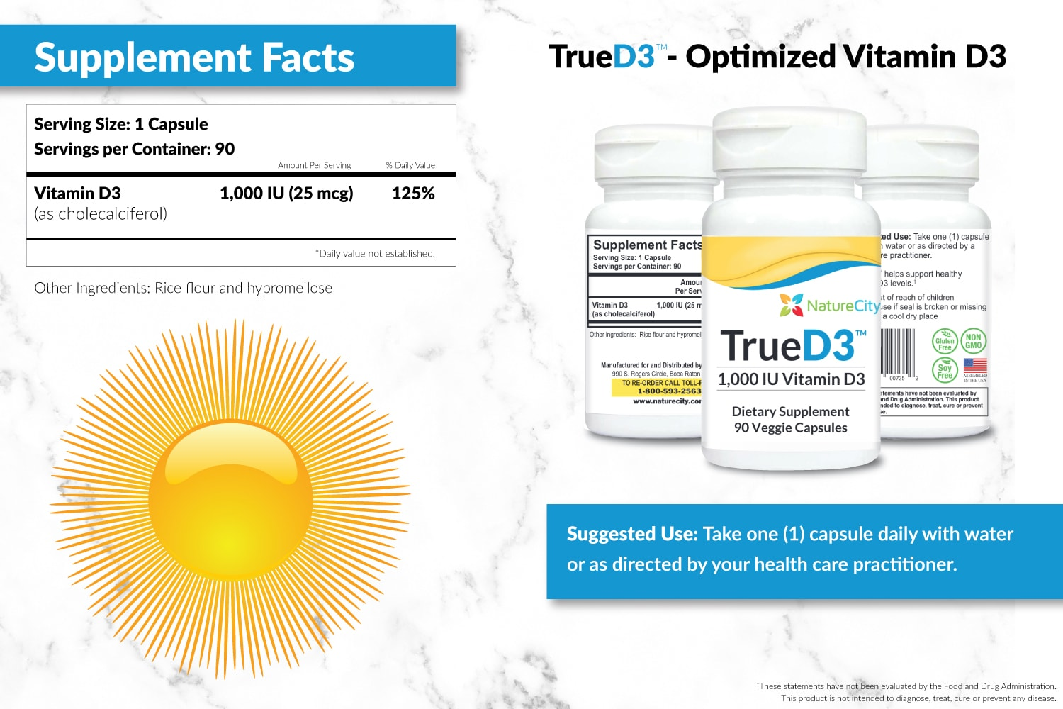 TrueD3 Supplement Facts