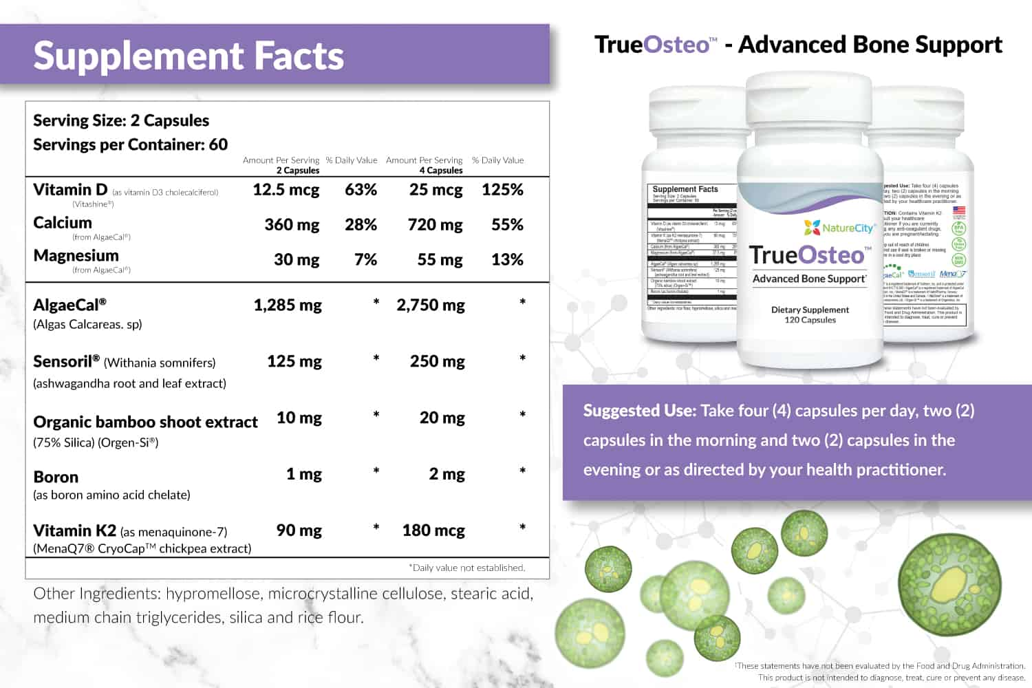 TrueOsteo Supplement Facts