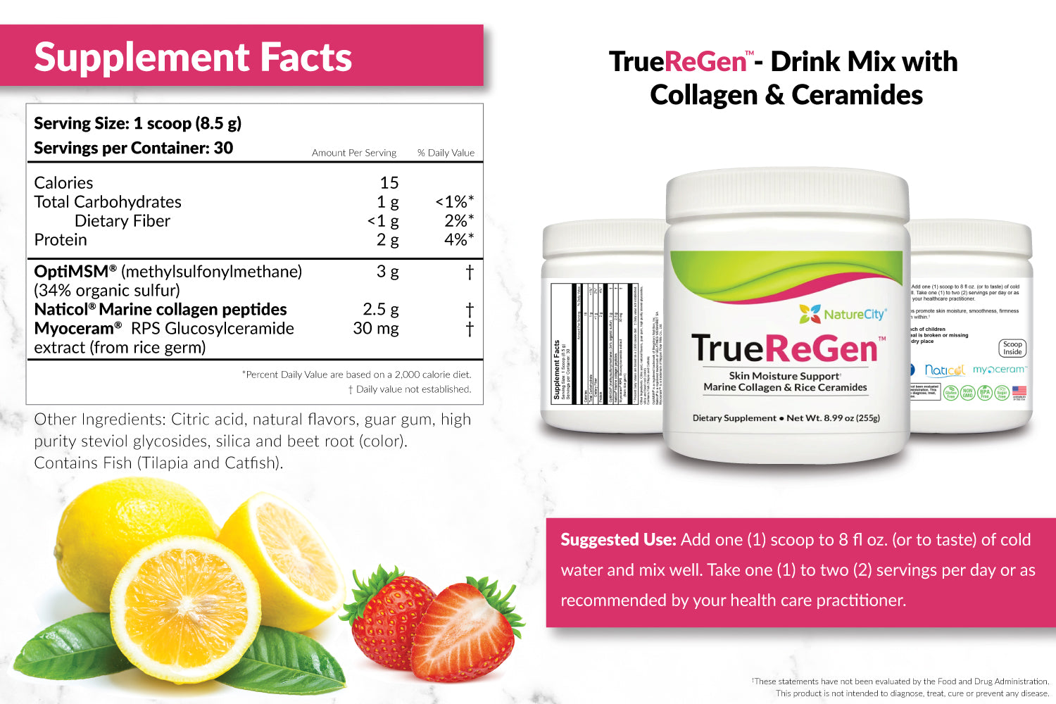 TrueReGen Supplement Facts and Suggested Use