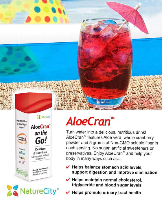 AloeCran On The Go! Glass by the Beach Delicious Nutritious Drink