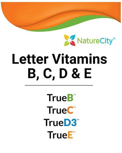 Letter Vitamins B, C, D & E Package