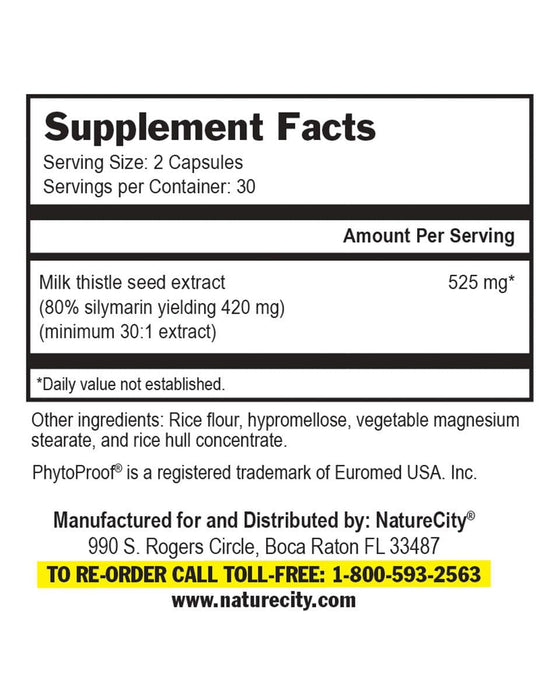 TrueMilkThistle - Supplement Facts NAC