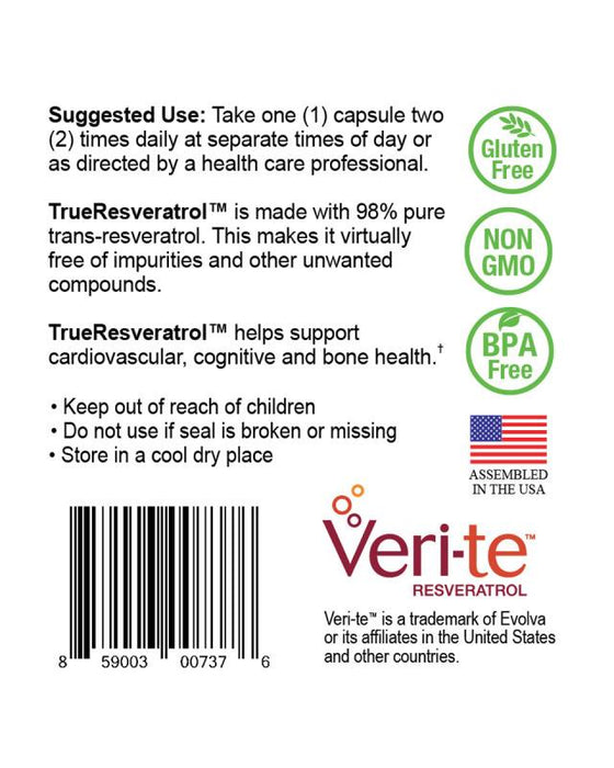 TrueResveratrol - Suggested Use and Cognitive Health
