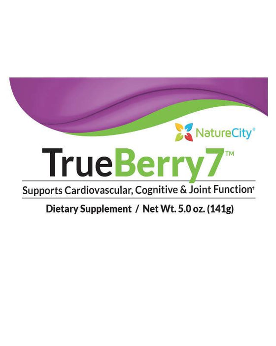 TrueBerry7 - Label Supports Cardiovascular Cognitive and Joint Function