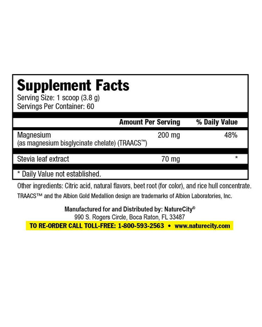 TrueMagnesium Facts Panel