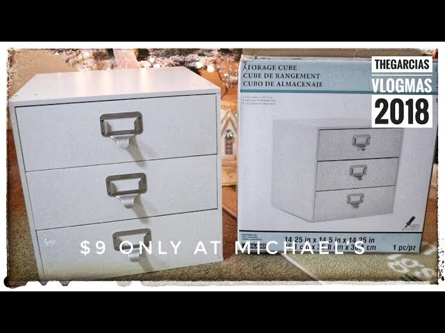 Hello everyone! Welcome to our VLOGMAS DAY 9! We got a steal deal from Michaels! This Organizer Cube 3 Drawer by Ashland was $50.00 regular price and ...