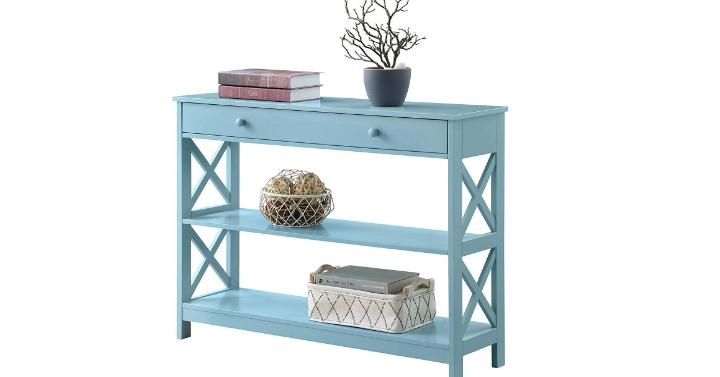 Convenience Concepts Oxford 1-Drawer Console Table (Sea Foam) – Only $82!
