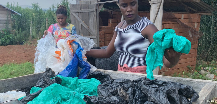 "Faith Aweko of Uganda describes herself as a ""waste-preneur.""  She has come up with an innovative way to transform discarded plastic bags into backpacks for everyday use."
