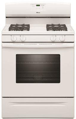 Amana 30-Inch 5 Cu. Ft. Single Oven Free-Standing Gas Range' White
