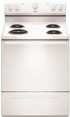 Amana 30-Inch 4.8 Cu. Ft. Single Oven Free-Standing Electric Range' White