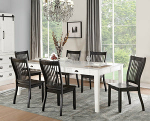 Acme Furniture 71850 Renske 5 Piece White Finish Dining Table Set