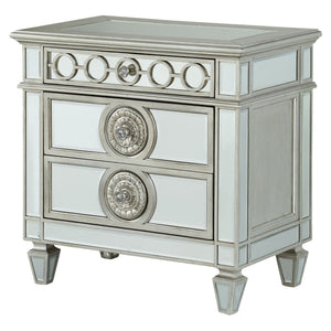 Acme 26153 Varian Blue Mirrored Finish Nightstand