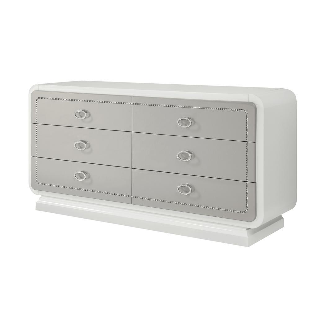 Acme Allendale Ivory Wood Finish Dresser