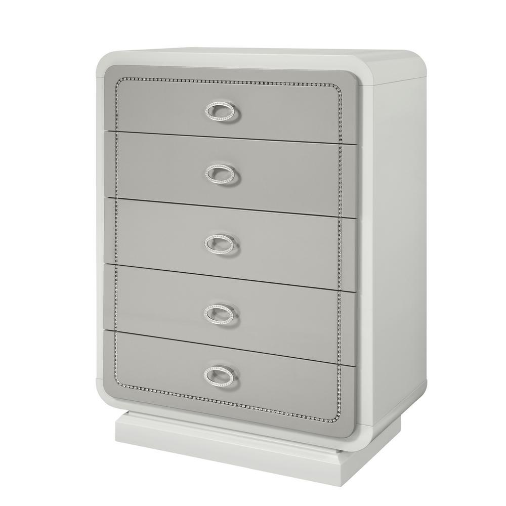 Acme Allendale Ivory Wood Finish Chest