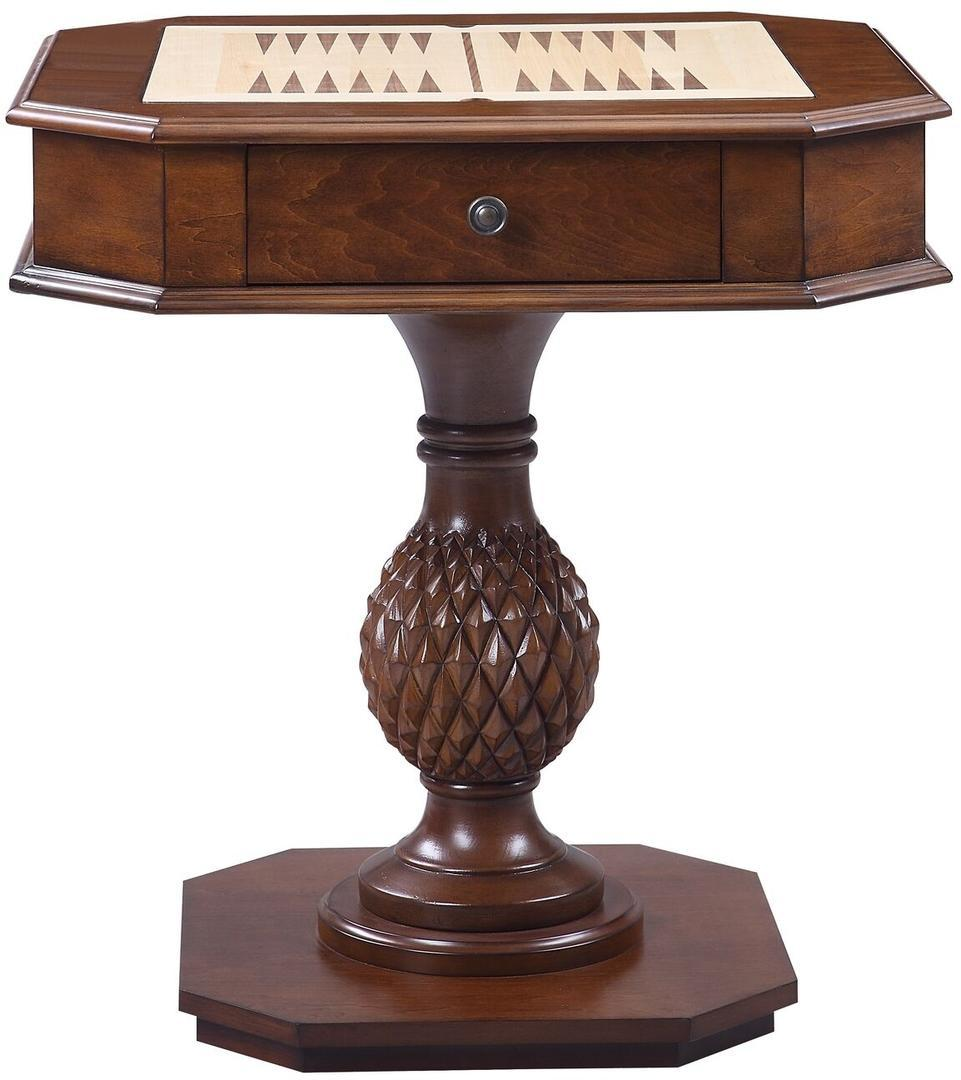 Acme Bishop II Cherry Wood Finish Accent Table