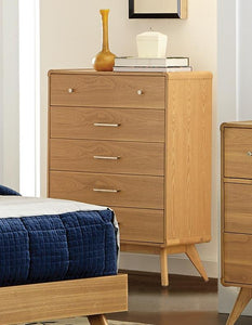 1915-9 Anika Modern Light Ash Finish Wood Chest Tall Dresser