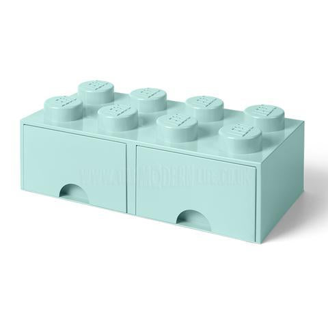 Storage Box . LEGO Brick Drawer 8 Stud - Various Colour Options