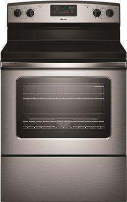 Amana 4.8 Cu. Ft. Smooth Top Electric Range With Radiant Elements' Stainless Steel
