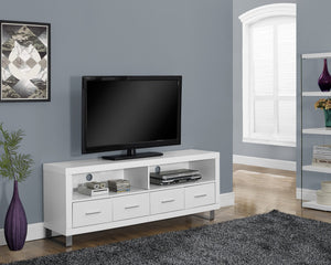 "60""L WHITE WITH 4 DRAWERS TV STAND"