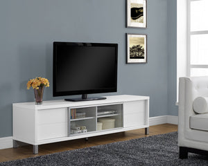 "70""L WHITE EURO STYLE TV STAND"