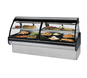 "Federal Industries Curved Glass Refrigerated Maxi Deli Case, 72""W x 42""D x 54""H, Stainless Steel Interior & Exterior"