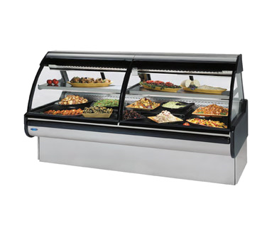 Federal Industries Curved Glass Refrigerated Maxi Deli Case, 72