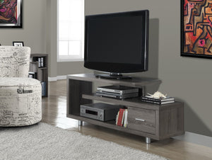 "60""L DARK TAUPE WITH 1 DRAWER TV STAND"