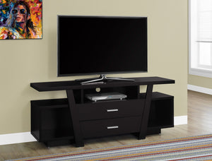"60""L CAPPUCCINO WITH 2 STORAGE DRAWERS TV STAND"