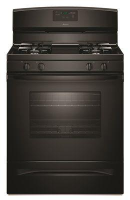 Amana 30-Inch 5.0 Cu. Ft. Single Oven Free-Standing Gas Range' Black