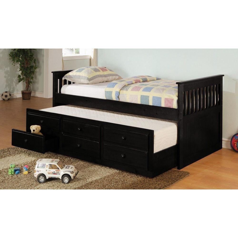 Twin size Mission Style Daybed with Trundle & Storage Drawers
