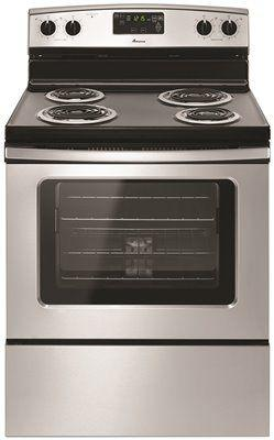 Amana 4.8 Cu. Ft. Free Standing Electric Range With Storage Drawer' Stainless Steel