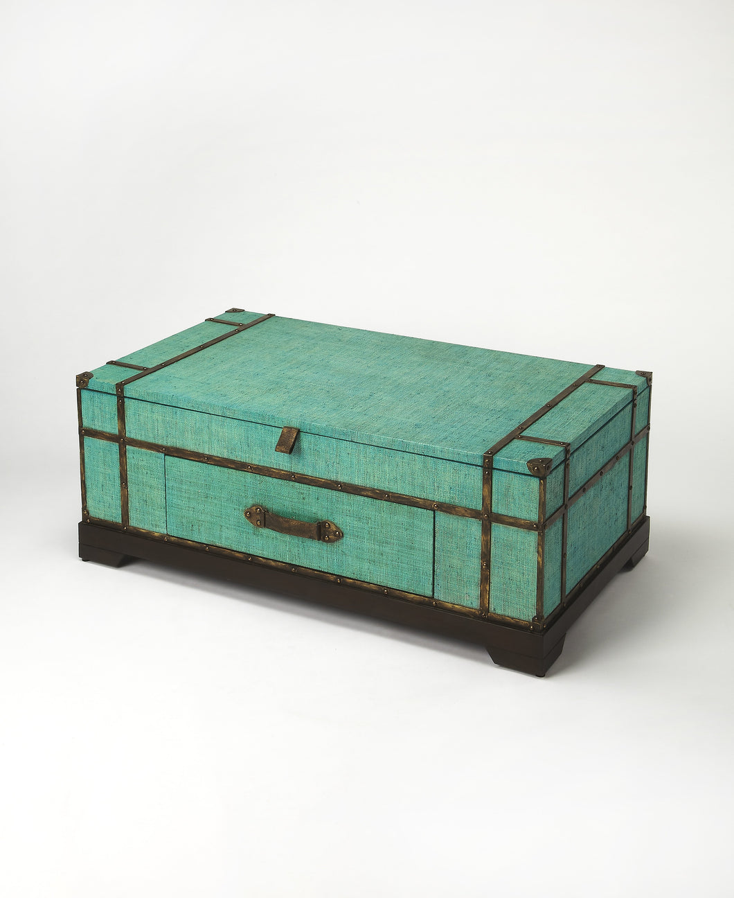 Anabel Green Raffia Trunk Coffee Table