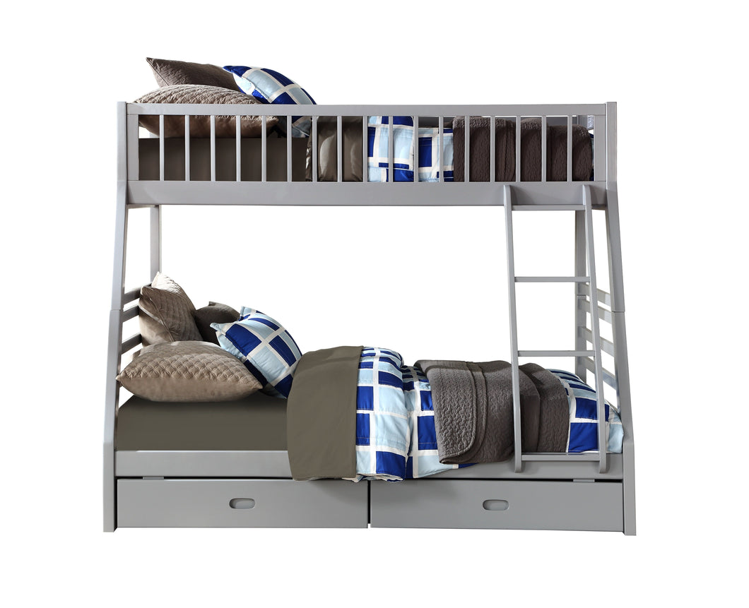 Acme Jason Twin And Storage Bunk Bed With Gray Finish 37840