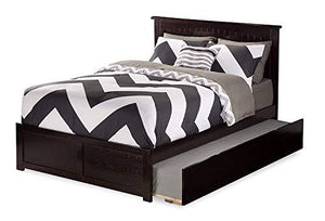 Atlantic Furniture AR8232011 Nantucket Platform Bed with Twin Size Urban Trundle, Full, Espresso