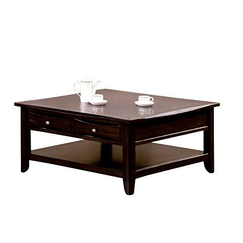 BOWERY HILL Square Coffee Table in Espresso