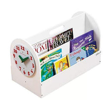 Load image into Gallery viewer, Discover the tidy books kids bookshelf kids books storage box book display wooden box white 13 8 x 21 7 x 12 2 in eco friendly handmade the original tidy books box