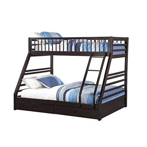 Acme Jason XL Twin/Queen Bunk Bed with Drawers, Espresso